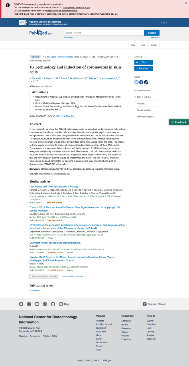 Screenshot_2020-07-25 5G Technology and induction of coronavirus in skin cells - PubMed